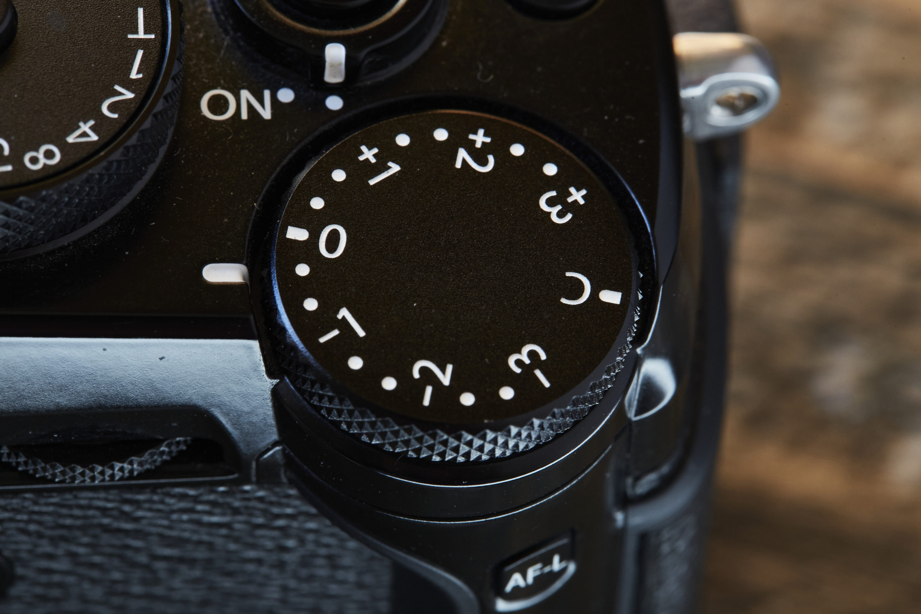 Exposure compensation dial of Fuji X-Pro2