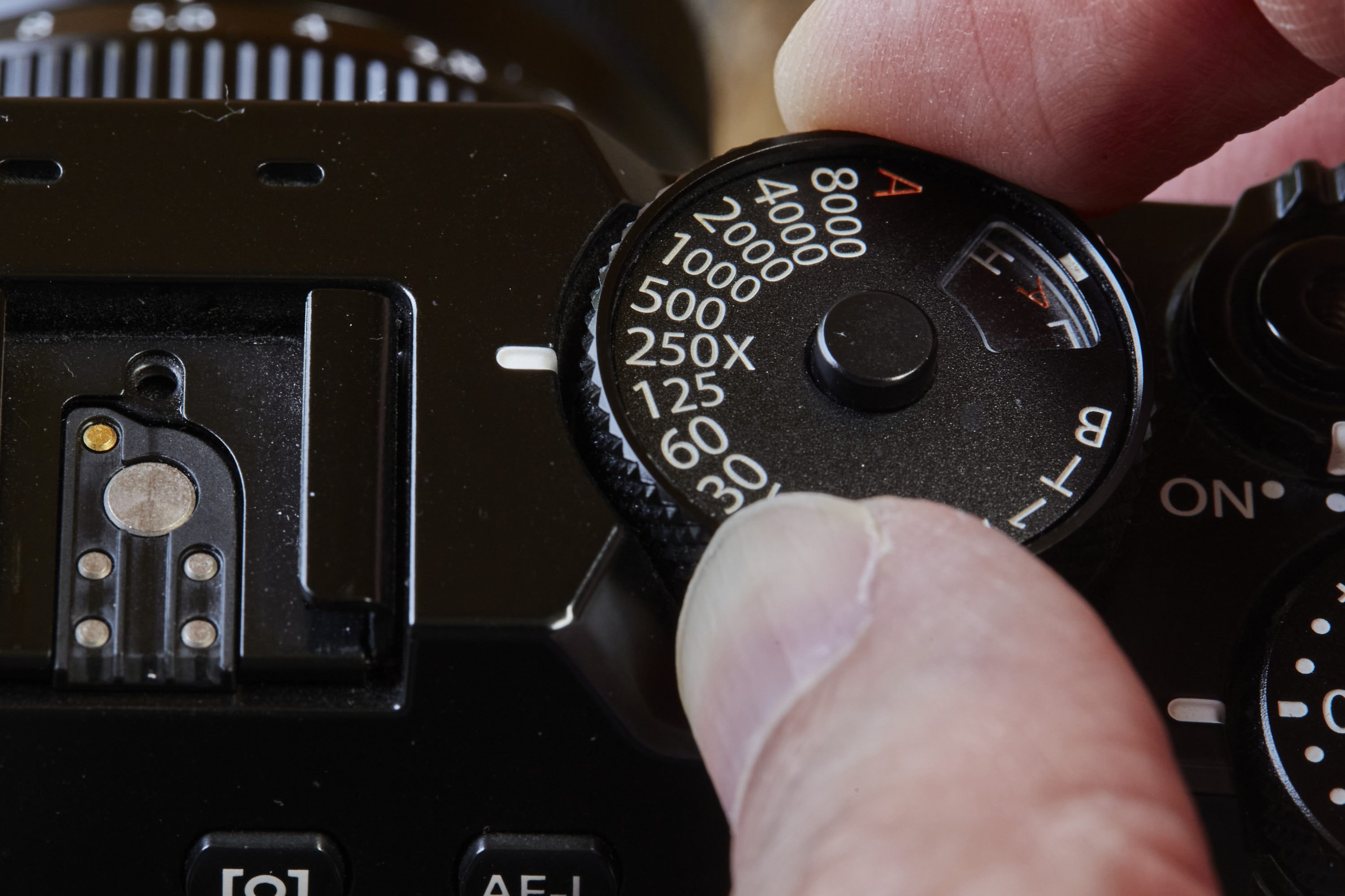 Turning ISO dial on Fuji X-Pro2 camera